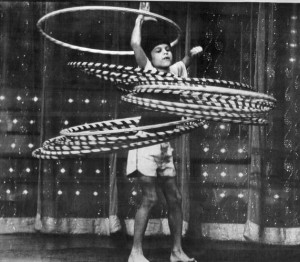 Mark Sforzini of Auburn, Ala., does his thing on the MGM Grand Hotel stage in Las Vegas for a segment of the Dinah television show. At age 10, he won the World Hula Hoop championship. Always striving to achieve, the young Sforzini was also a state diving champion.